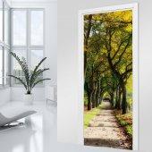 Adesivo per porte viale albero