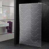 Adesivo sabbiato per box doccia design
