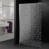 Adesivo sabbiato per box doccia quadrati