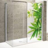 Adesivo traslucido per box doccia foglie