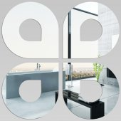 Akrylowe Lustro Plexiglas - Krople