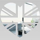 Akrylowe Lustro Plexiglas - Serce London