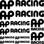 ap racing Decal Stickers kit