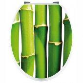 Aufkleber für Toilettendeckel Bambus
