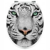 Aufkleber für Toilettendeckel Tiger