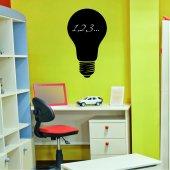 Autocolante ardósia lâmpada elétrica