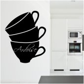 Autocolante ardósia xícara de café
