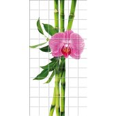 Autocolante Azulejo flores bambu