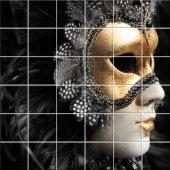 Autocolante Azulejo máscara de Veneza