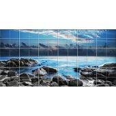 Autocolante Azulejo paisagem