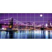 Autocolante Azulejo ponte de New York