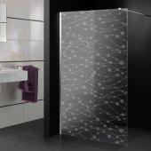 Autocolante cabine de duche design círculos