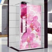 Autocolante cabine de duche orquídea