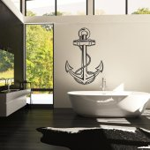 Autocolante decorativo ancla  marinho