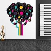 Autocolante decorativo disco ano 71