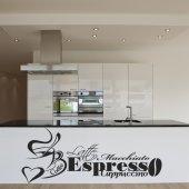 Autocolante decorativo  frases café