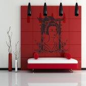 Autocolante decorativo Geisha