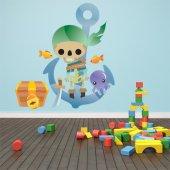 Autocolante decorativo infantil ancla