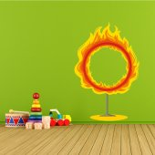 Autocolante decorativo infantil anel de fogo