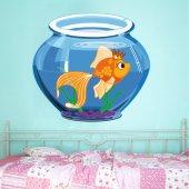 Autocolante decorativo infantil aquário