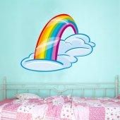 Autocolante decorativo infantil arco-íris