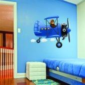 Autocolante decorativo infantil aviador
