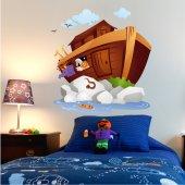 Autocolante decorativo infantil barco