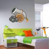 Autocolante decorativo infantil canhão