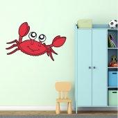 Autocolante decorativo infantil caranguejo