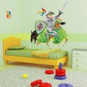 Autocolante decorativo infantil cavaleiros