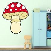 Autocolante decorativo infantil cogumelo