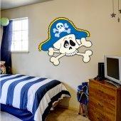 Autocolante decorativo infantil crânio do pirata