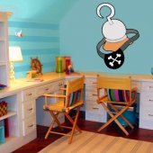 Autocolante decorativo infantil gancho