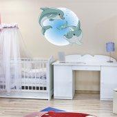 Autocolante decorativo infantil golfinho