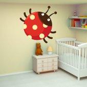 Autocolante decorativo infantil mariquita