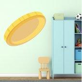 Autocolante decorativo infantil moeda de ouro
