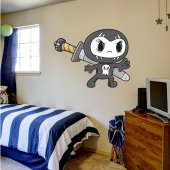Autocolante decorativo infantil Ninja