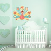 Autocolante decorativo infantil pavão