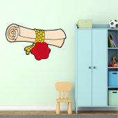 Autocolante decorativo infantil pergaminho