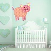 Autocolante decorativo infantil porco