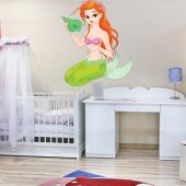Autocolante decorativo infantil sereia