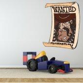 Autocolante decorativo infantil wanted