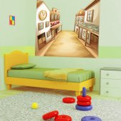 Autocolante decorativo infantil Wild West City