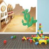 Autocolante decorativo infantil Wild West City
