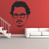 Autocolante decorativo johnny depp