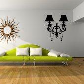 Autocolante decorativo lámpara