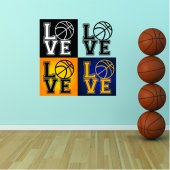 Autocolante decorativo love Basquetebol