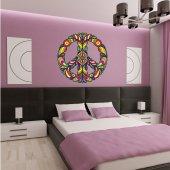 Autocolante decorativo paz e amor