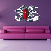 Autocolante decorativo spray graffiti