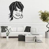 Autocolante decorativo whitney houston